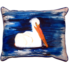 Spring Creek Pelican Indoor Outdoor Pillow 20x24 | Betsy Drake | BDZP382