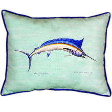 Blue Marlin Teal Indoor Outdoor Pillow 20X24 | Betsy Drake | BDZP015C