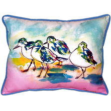 Sanderling Pink Indoor Outdoor Pillow 20x24 | Betsy Drake | BDZP953