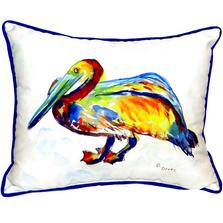 Gertrude Pelican Indoor Outdoor Pillow 20x24 | Betsy Drake | BDZP984A