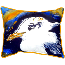 Seagull Portrait Left Indoor Outdoor Pillow 20x24 | Betsy Drake | BDZP295