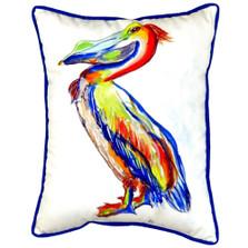 Sylvester Pelican Indoor Outdoor Pillow 20x24 | Betsy Drake | BDZP985A