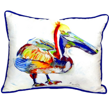 Heathcliff Pelican Indoor Outdoor Pillow 20x24 | Betsy Drake | BDZP983A