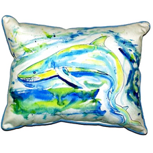 Green Shark Indoor Outdoor Pillow 20X24 | Betsy Drake | ZP357