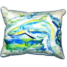 Green Shark Indoor Outdoor Pillow 20X24 | Betsy Drake | ZP357