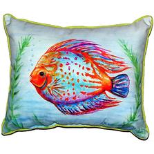Orange Fish Indoor Outdoor Pillow 20x24 | Betsy Drake | BDZP359