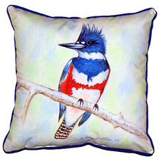 Kingfisher Indoor Outdoor Pillow 22x22 | Betsy Drake | BDZP363