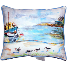 Sandpiper Boat Indoor Outdoor Pillow 20x24 | Betsy Drake | BDZP445