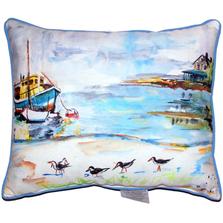 Sandpiper Boat Indoor Outdoor Pillow 20x24   Betsy Drake   BDZP445