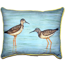Coastal Bird Pair Indoor Outdoor Pillow 20x24 | Betsy Drake | BDZP430
