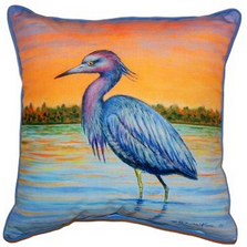 Heron and Sunset Indoor Outdoor Pillow 22x22 | Betsy Drake | BDZP493