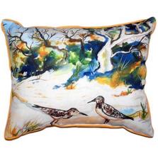 Beach Birds Indoor Outdoor Pillow 20x24   Betsy Drake   BDZP487