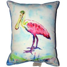 Roseate Spoonbill Indoor Outdoor Pillow 20x24 | Betsy Drake | BDZP530