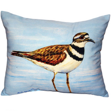 Killdeer Bird Indoor Outdoor Pillow 20x24 | Betsy Drake | BDZP546