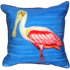 Spoonbill Indoor Outdoor Pillow 22x22 | Betsy Drake | BDZP549