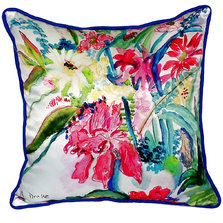 Multi Floral Indoor Outdoor Pillow 22x22 | Betsy Drake | BDZP722
