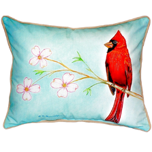 Cardinal Bird Indoor Outdoor Pillow 20x24 | Betsy Drake | BDZP470