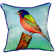 Painted Bunting Indoor Outdoor Pillow 22x22 | Betsy Drake | BDZP920