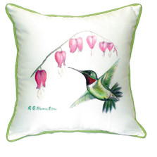 Hummingbird Indoor Outdoor Pillow 22x22 | Betsy Drake | BDZP030