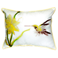 Yellow Hummingbird Indoor Outdoor Pillow 20x24 | Betsy Drake | BDZP332