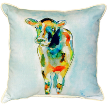 Cow Indoor Outdoor Pillow 22x22 | Betsy Drake | BDZP066