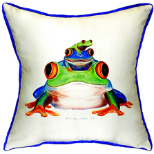 Frog Stack Indoor Outdoor Pillow 22x22 | Betsy Drake | BDZP456