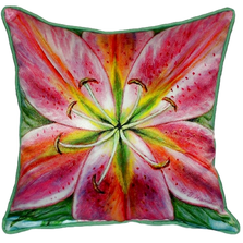 Pink Lily Indoor Outdoor Pillow 22x22 | Betsy Drake | BDZP701