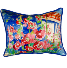 Hollyhock Indoor Outdoor Pillow 20x24 | Betsy Drake | BDZP375