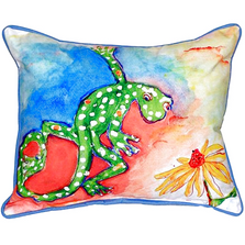 Gecko Indoor Outdoor Pillow | Betsy Drake | BDZP143