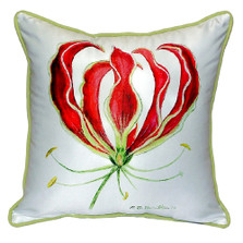 Red Lily Indoor Outdoor Pillow 22x22   Betsy Drake   BDZP482