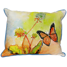 Butterfly Scene Indoor Outdoor Pillow 20x24 | Betsy Drake | BDZP278