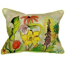 Garden Scene Indoor Outdoor Pillow 20x24 | Betsy Drake | BDZP060