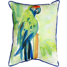Green Parrot Indoor Outdoor Pillow 20x24 | Betsy Drake | BDZP020