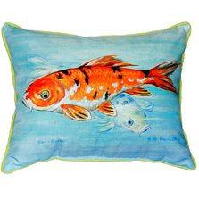 Koi Fish Indoor Outdoor Pillow 20x24 | Betsy Drake | BDZP117