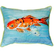 Koi Fish Indoor Outdoor Pillow 20x24 | Betsy Drake | BDZP117