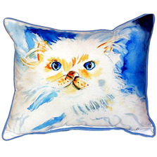 Cat Indoor Outdoor Pillow | Betsy Drake | BDZP273