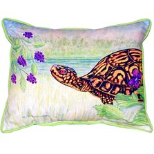 Turtle and Berries Indoor Outdoor Pillow 20x24 | Betsy Drake | BDZP038