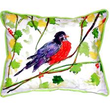Robin Indoor Outdoor Pillow 20x24 | Betsy Drake | BDZP164