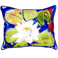 Flower and Lily Pad Indoor Outdoor Pillow 20x24 | Betsy Drake | BDZP171