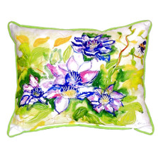 Clematis Indoor Outdoor Pillow 20x24 | Betsy Drake | BDZP284