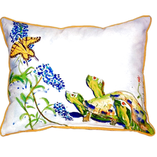 Turtle and Butterfly Indoor Outdoor Pillow 20x24 | Betsy Drake | BDZP178