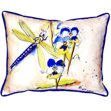 Blue Dragonfly Indoor Outdoor Pillow 20x24 | Betsy Drake | BDZP387