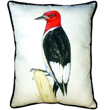 Redheaded Woodpecker Indoor Outdoor Pillow 20x24 | Betsy Drake | BDZP310
