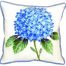 Hydrangea Indoor Outdoor Pillow 22x22 | Betsy Drake | BDZP988