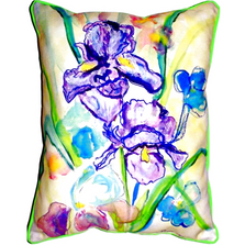 Iris Pair Indoor Outdoor Pillow 20x24 | Betsy Drake | BDZP942