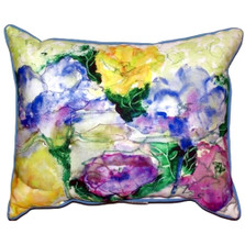 Watercolor Garden Indoor Outdoor Pillow 20x24 | Betsy Drake | BDZP390