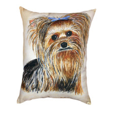 Yorkie Indoor Outdoor Pillow 20x24 | Betsy Drake | BDZP553