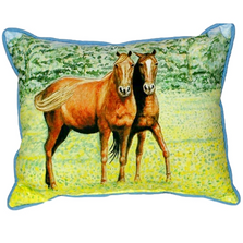 Horse Pair Indoor Outdoor Pillow 20x24 | Betsy Drake | BDZP057
