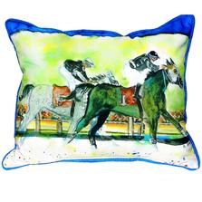 Race Horse Pair Indoor Outdoor Pillow 20x24 | Betsy Drake | BDZP142
