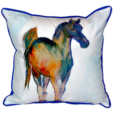 Horse Prancing Indoor Outdoor Pillow 22x22 | Betsy Drake | BDZP877